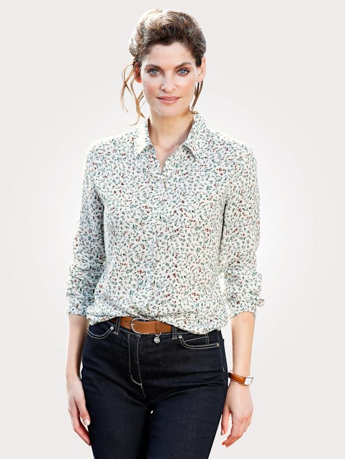 Bluse mit Minimal-Blütendruck