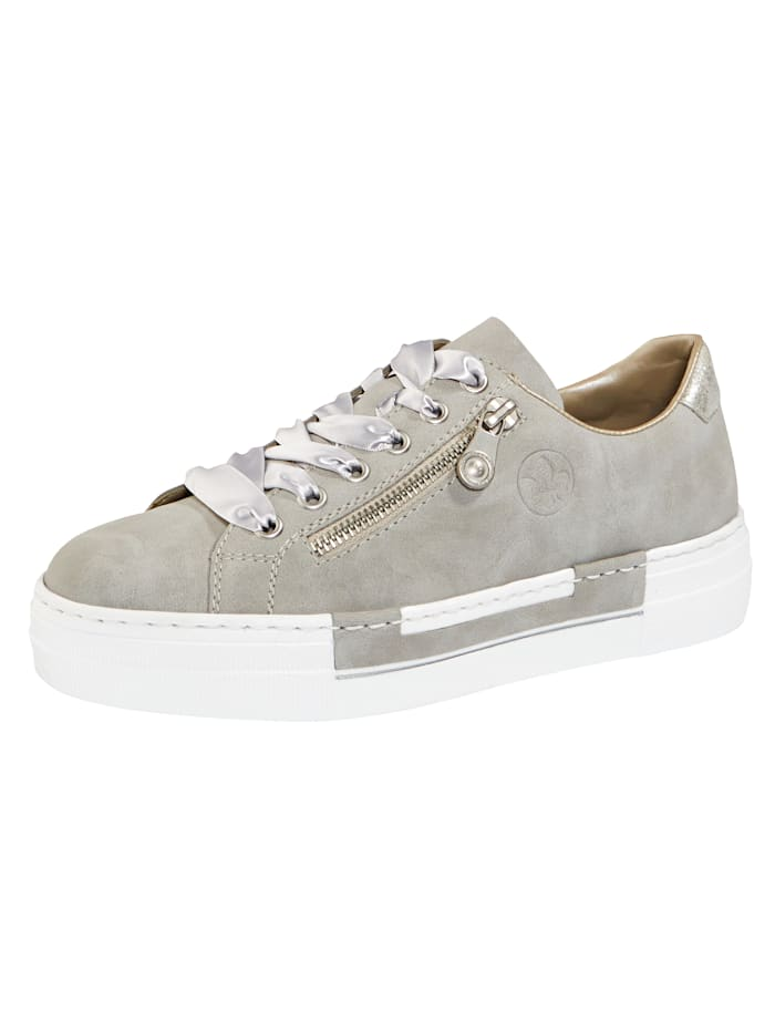 Rieker Platform trainers with a leather insole, Grey