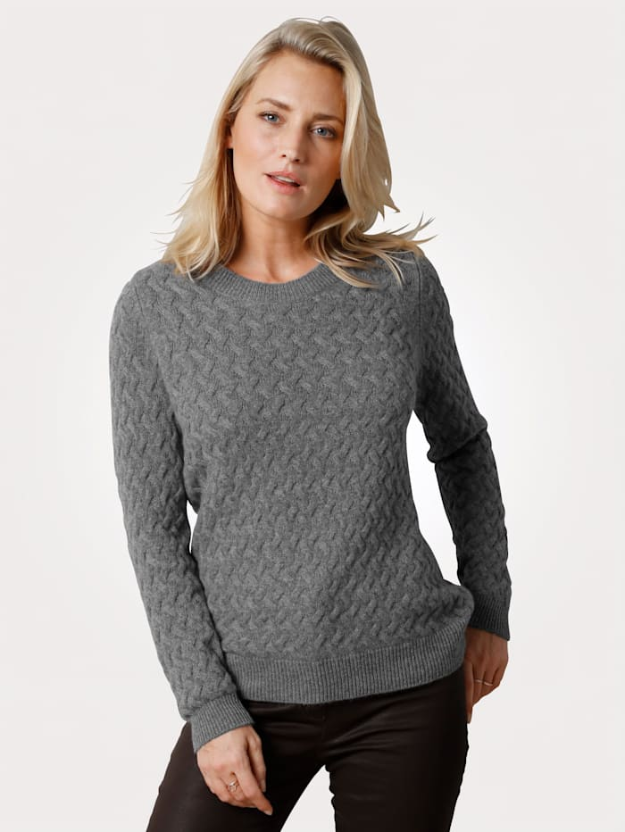 MONA Jumper made from pure cashmere, Grey
