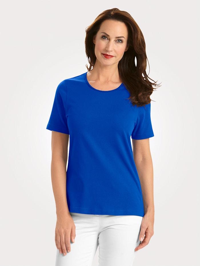 MONA Shirt mit Pima Baumwolle, Royalblau