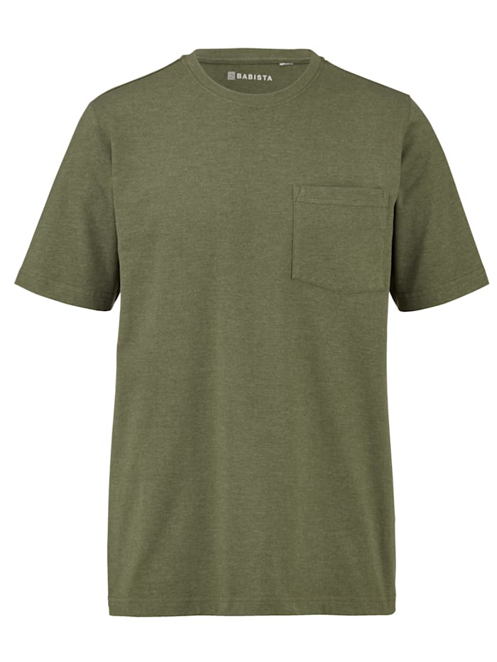 BABISTA T-Shirt mit Brusttasche, Oliv