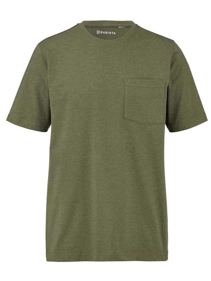 BABISTA T-shirt med bröstficka, Olivgrön