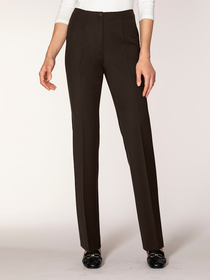 Artigiano Classic leg trousers made from two-way stretch fabric, Brown