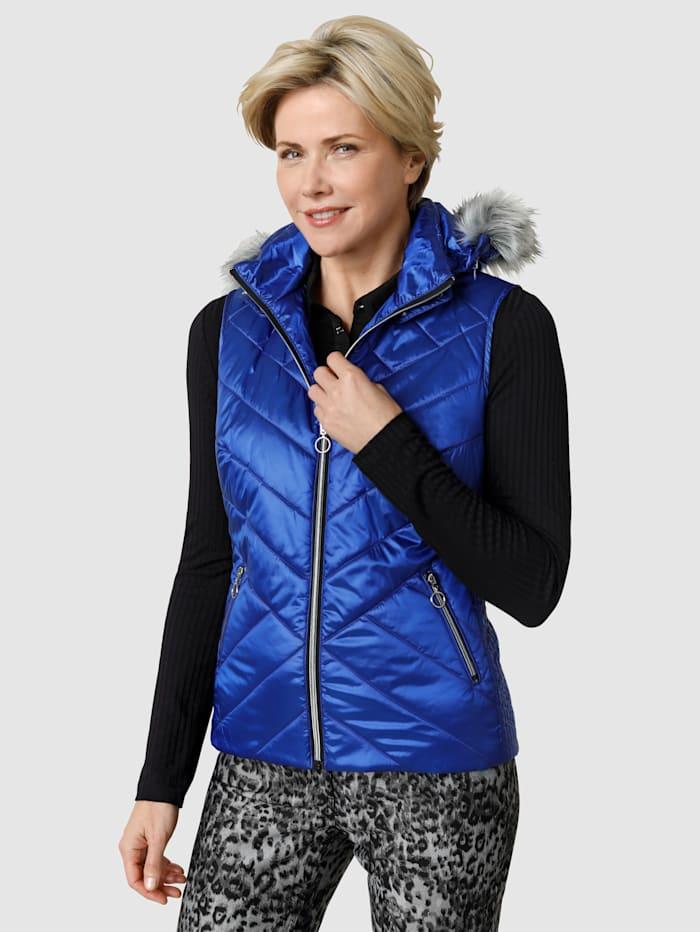 MONA Bodywarmer met mooie glans, Royal blue