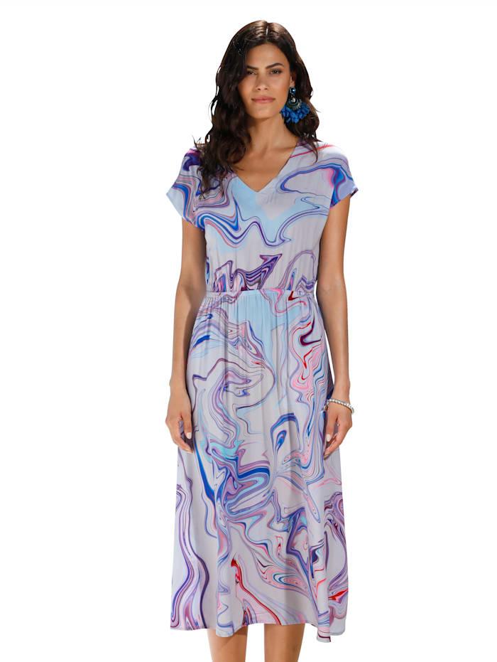 AMY VERMONT Kleid mit Farbverlauf, Weiß/Rosé/Lila