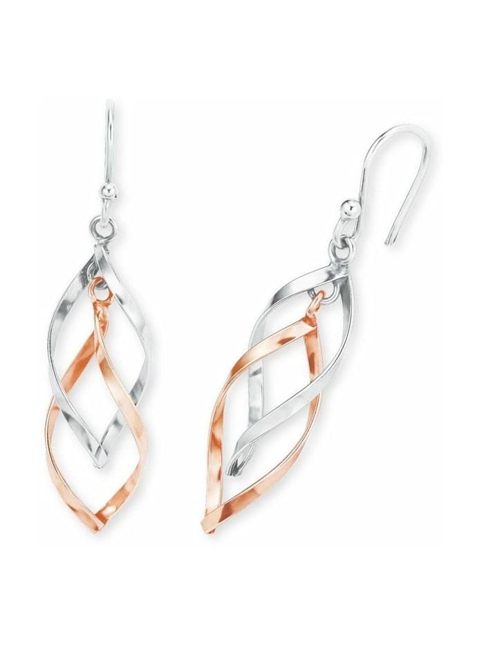 amor Ohrring für Damen, Sterling Silber 925, Bicolor