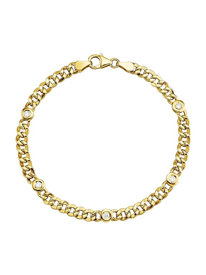 Diemer Diamant Kultainen ranneketju, Keltakullanvärinen