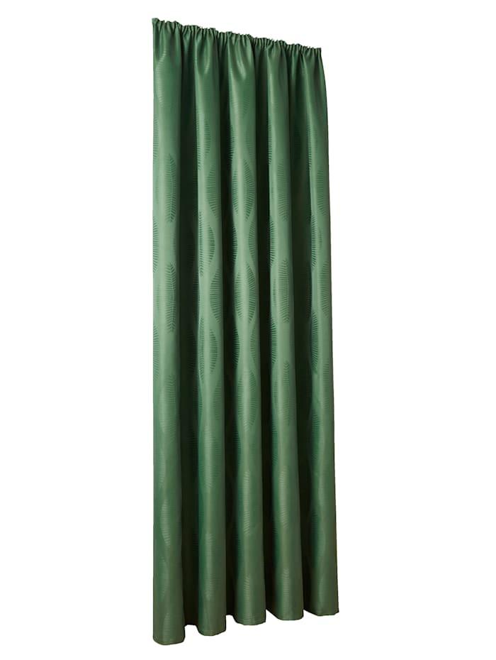 Webschatz Dekogardine 'Diron', grün