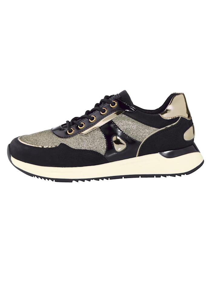 Sneakers en superbes matières mélangées