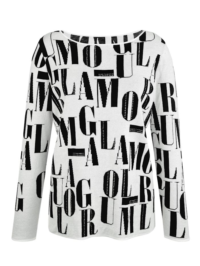 Pullover mit Buchstaben-Muster