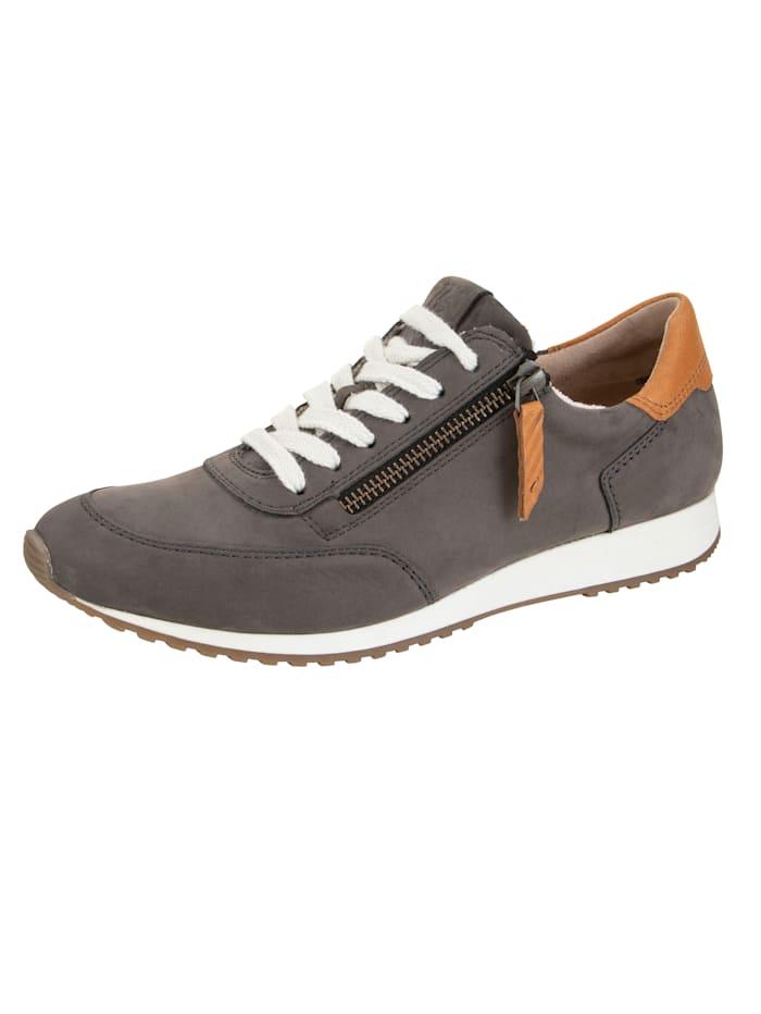 Paul Green Sneakers à technologie SUPER-Soft, Gris/Marron
