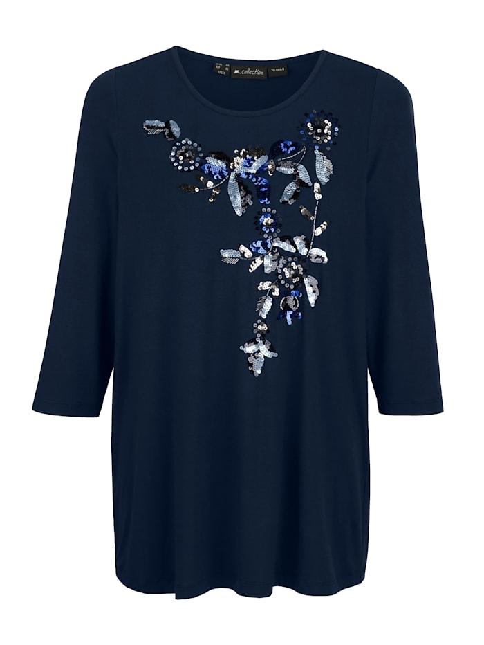 Shirt vorne mit aufwändiger Pailletten Applikation