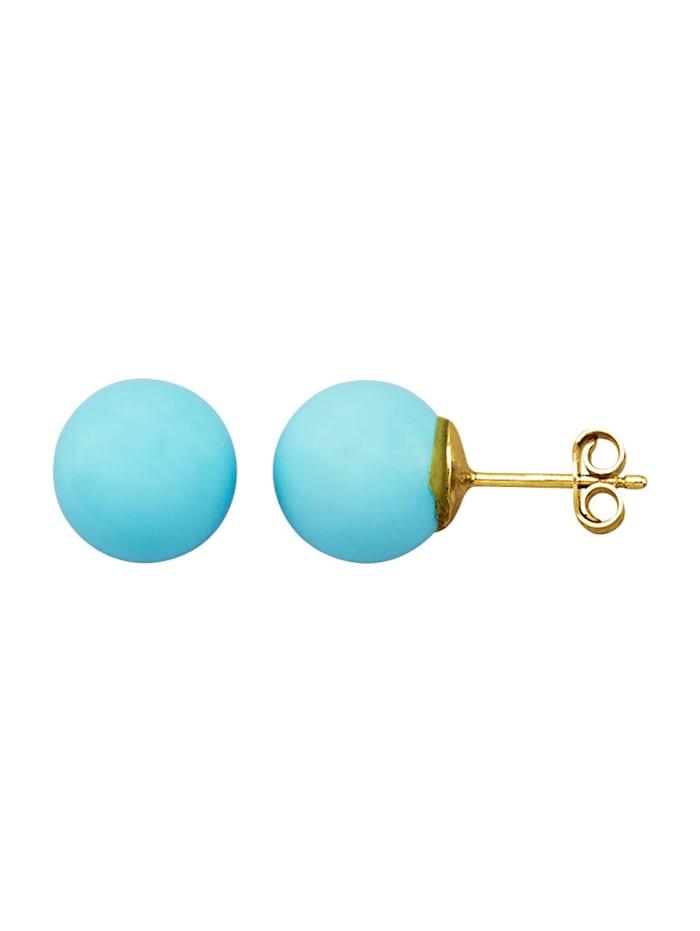 Örhängen med pärla, Blå