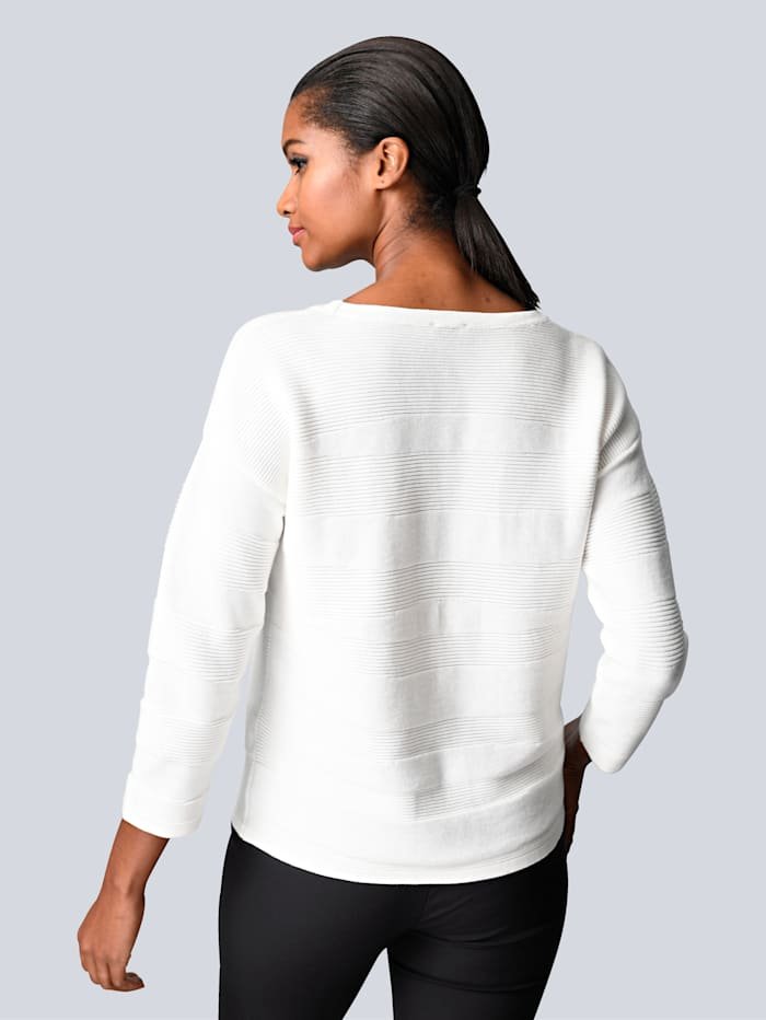 Pullover mit Ton-in-Ton Muster