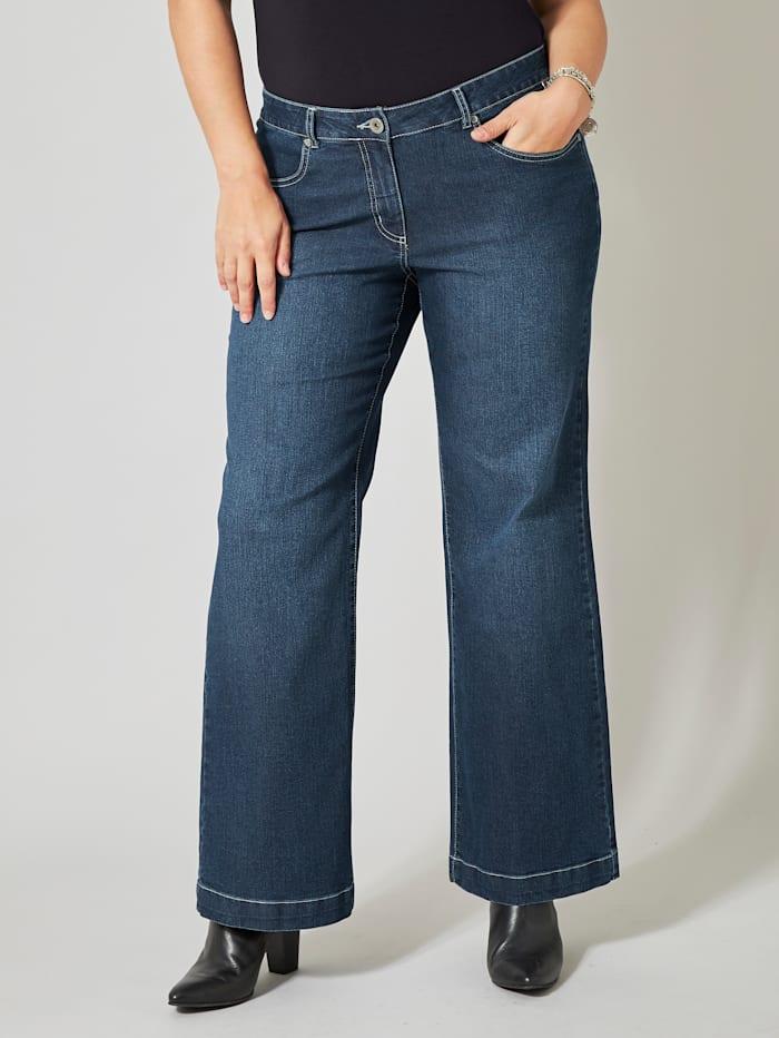 Dollywood Flare Cut Jeans Nora, Dunkelblau