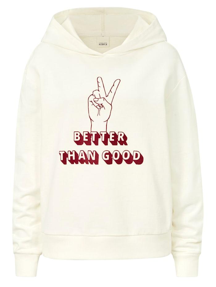 CONLEYS PURPLE Sweatshirt, Off-white
