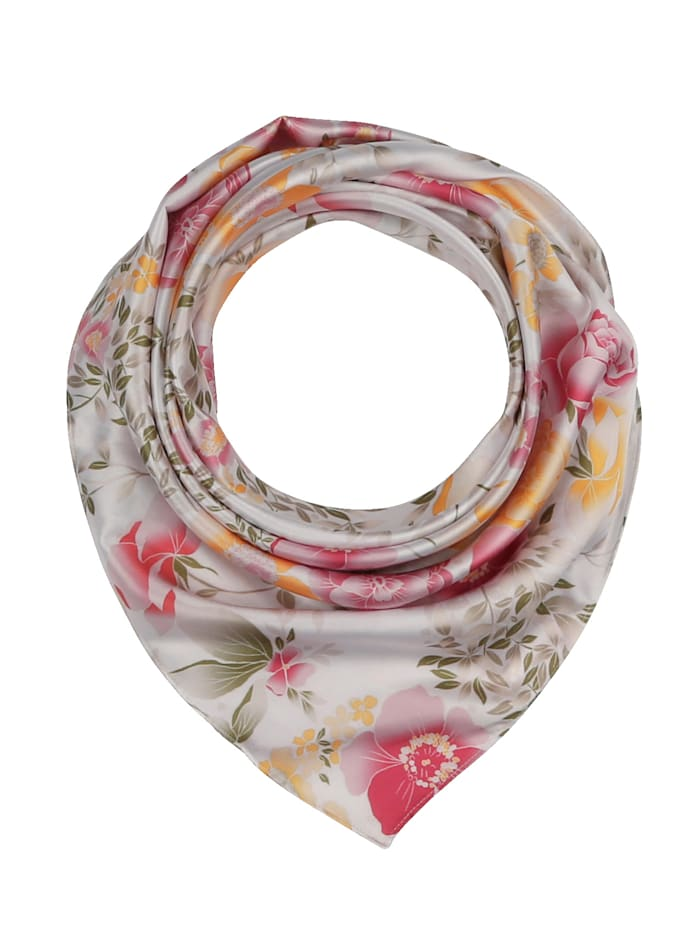 basically you Foulard à motif floral, Blanc/vieux rose/imp.