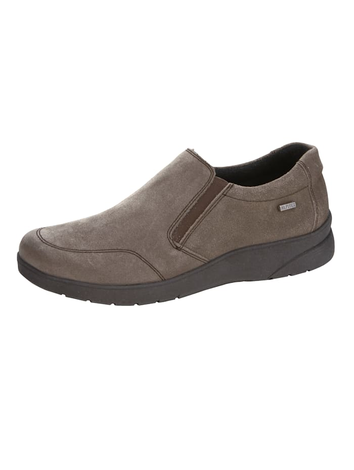 Naturläufer Mocassins à finition Alpitex coupe-vent et étanche, Taupe