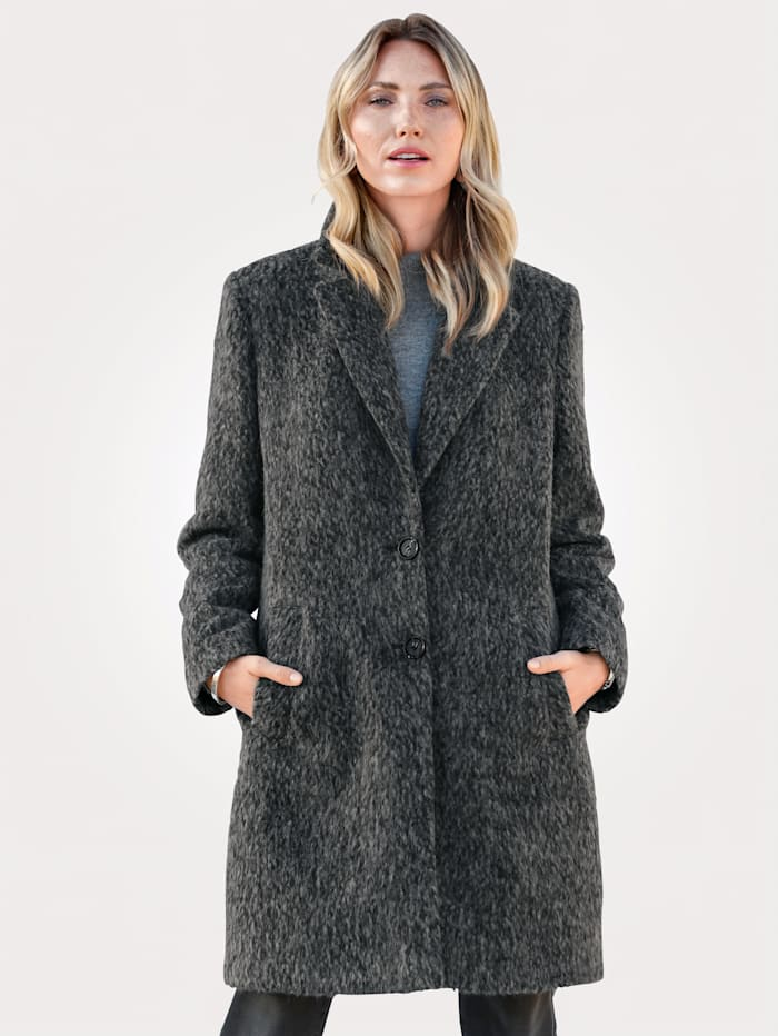 MONA Coat made from faux wool, Grey