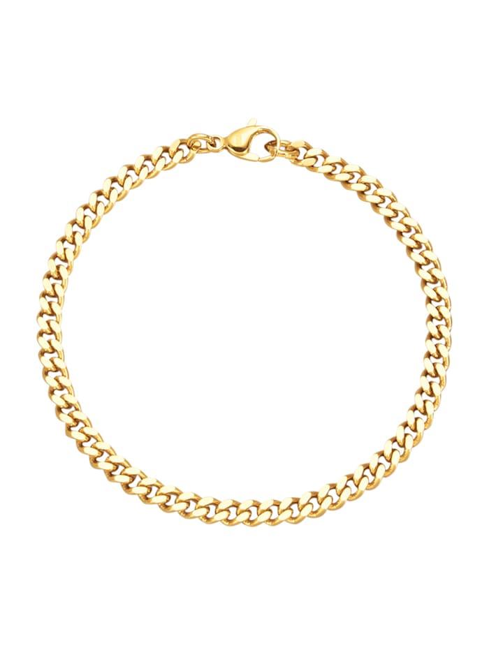 Bracelet maille gourmette, doré, Coloris or jaune