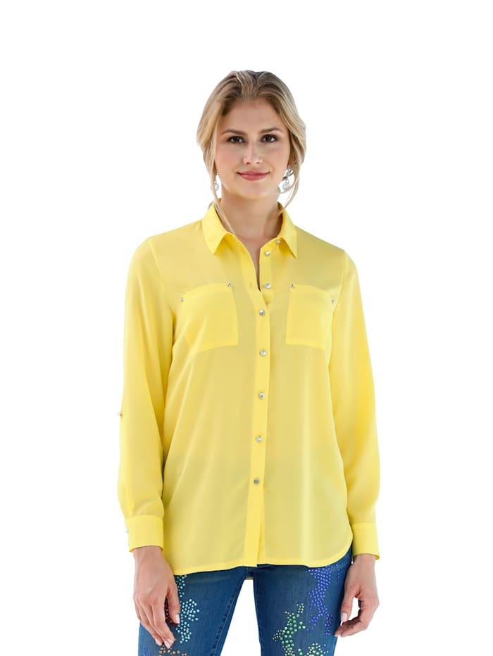 Bluse mit Rückteil aus Jersey
