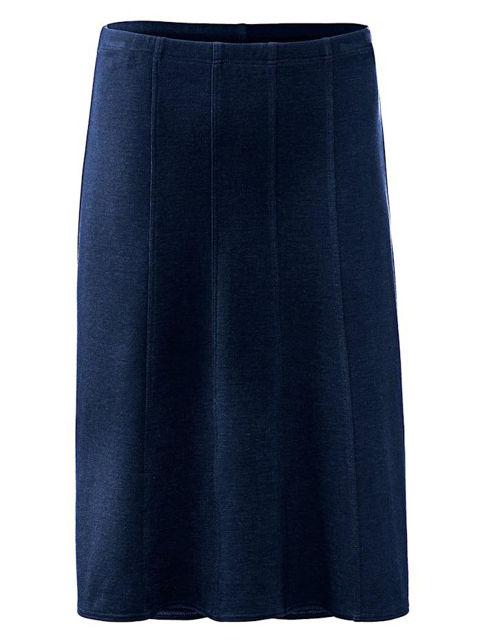 m. collection Jerseykjol med resårlinning, Marinblå