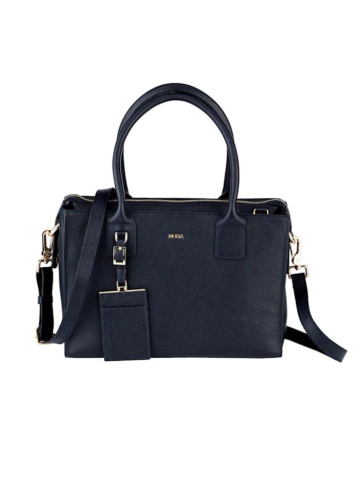 MONA Handbag in a chic design, Blue