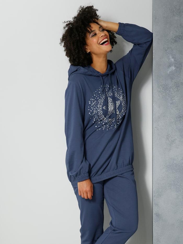 Angel of Style Sweatshirt met motief voor, Blauw