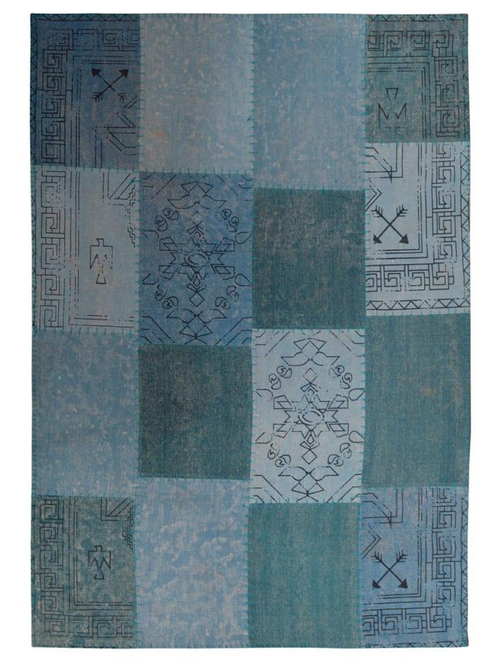 Kayoom Handwebteppich 'Donat', Blau