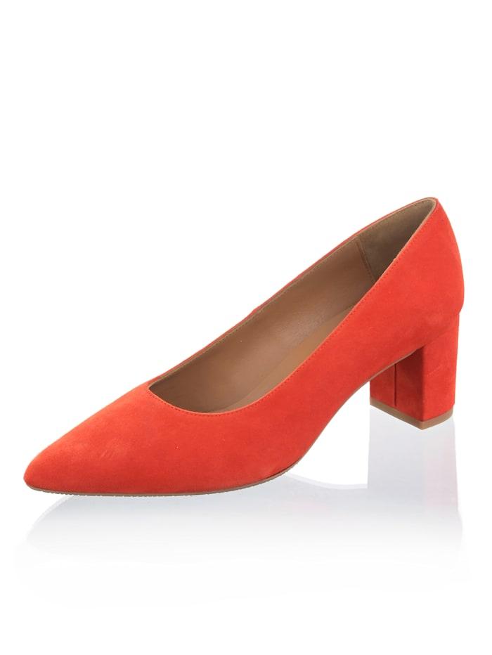 Alba Moda Pumps in auffallender Farbe, Orange