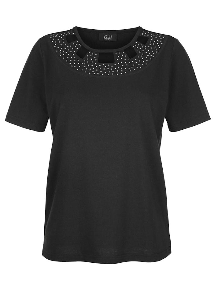 Shirt met fraaie hals