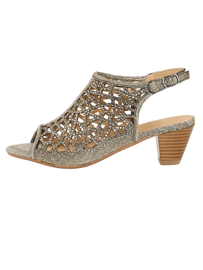 Sandales au joli coloris à effet brillant
