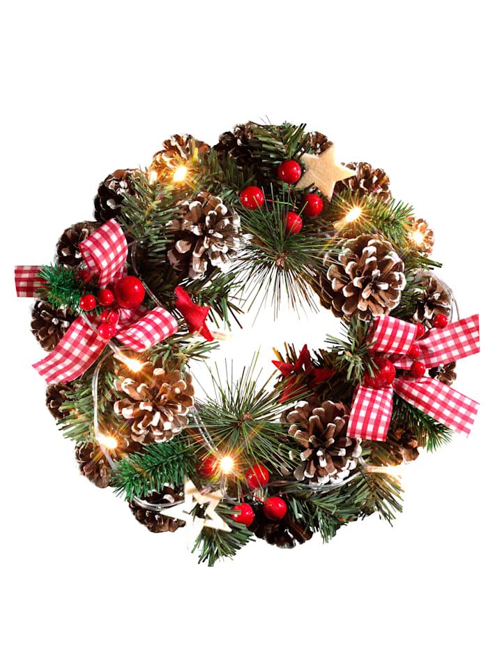 DS Produkte LED vianočný veniec, Červená