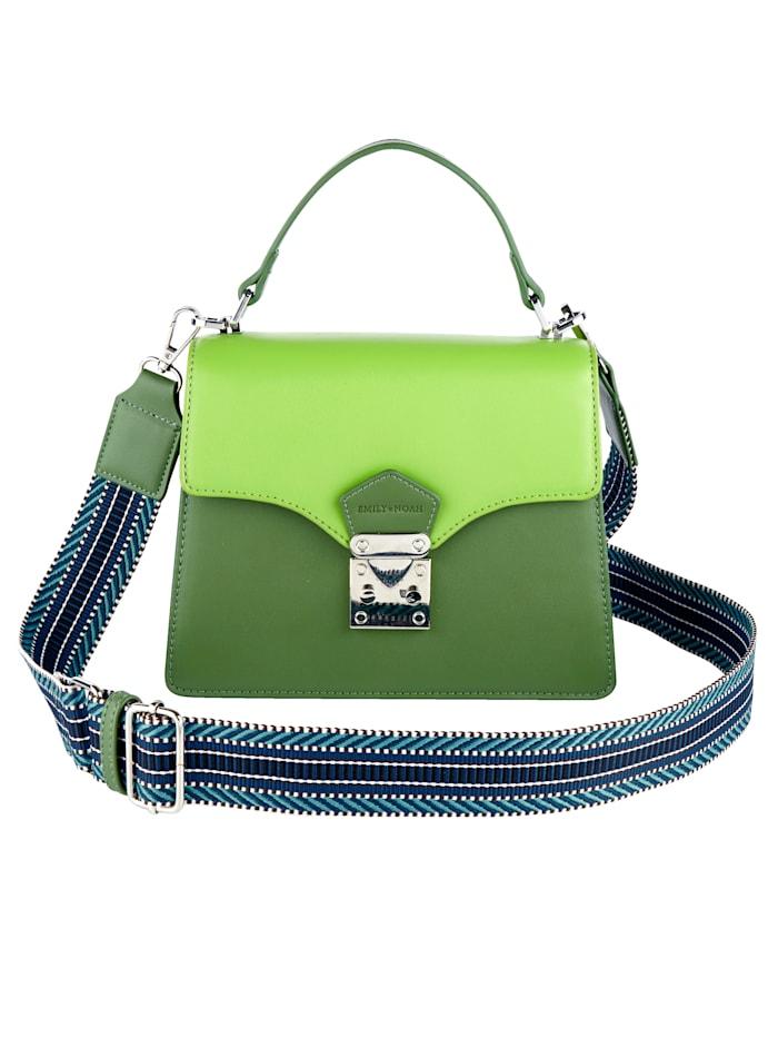 EMILY & NOAH Handtas in een mooie kleurencombinatie, groen gecombineerd