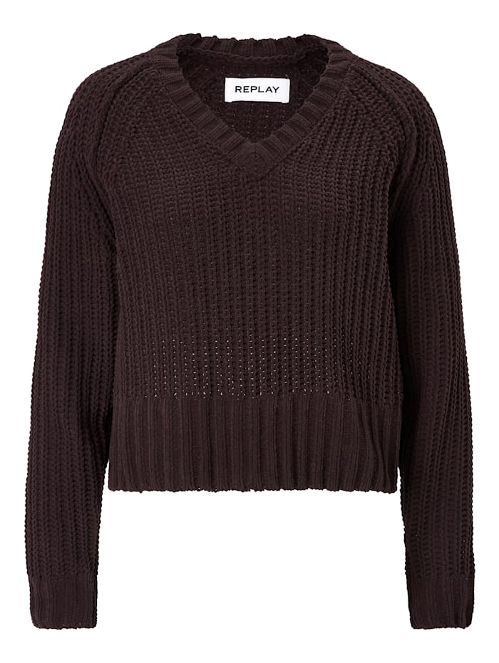 REPLAY Pullover, Bordeaux