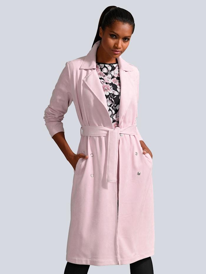 Alba Moda Mantel in modischer Zweireiher Form, Rosé