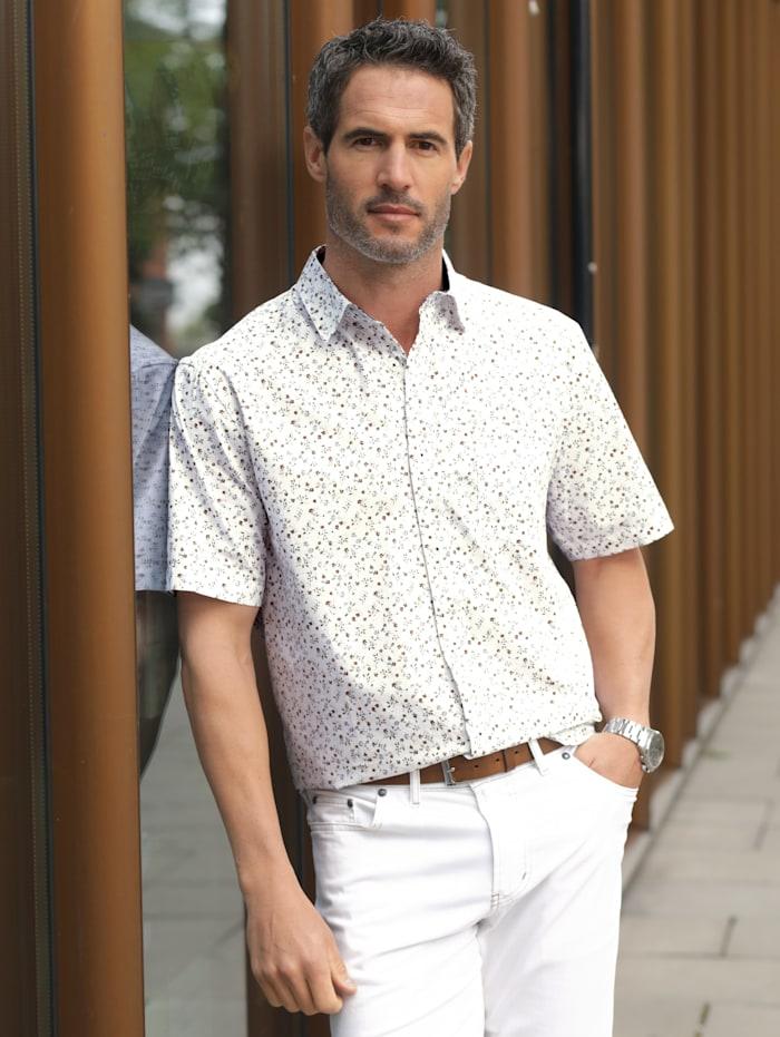 BABISTA Overhemd met bloemenprint, Wit/Beige