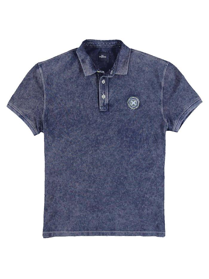 Engbers Polo-Shirt gemustert, Marineblau