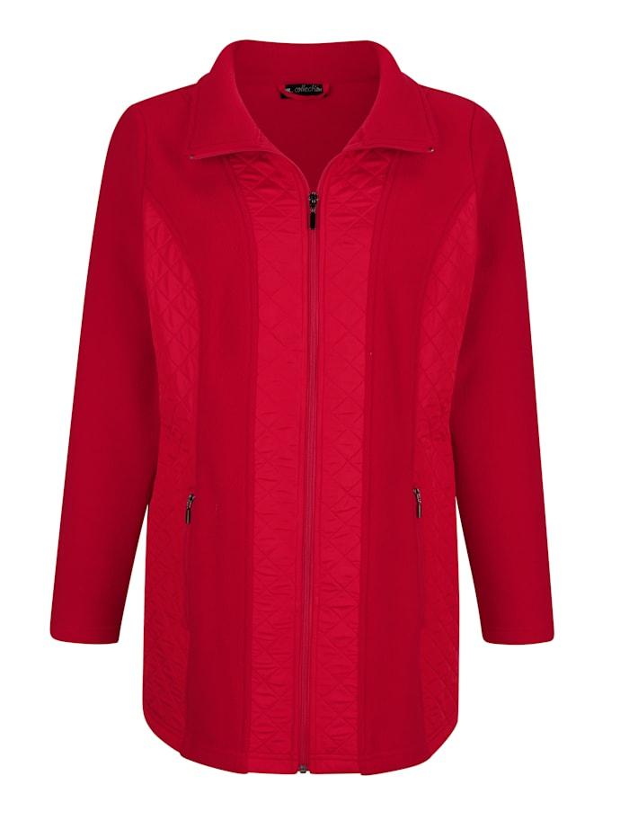 Fleece vest van een materialenmix