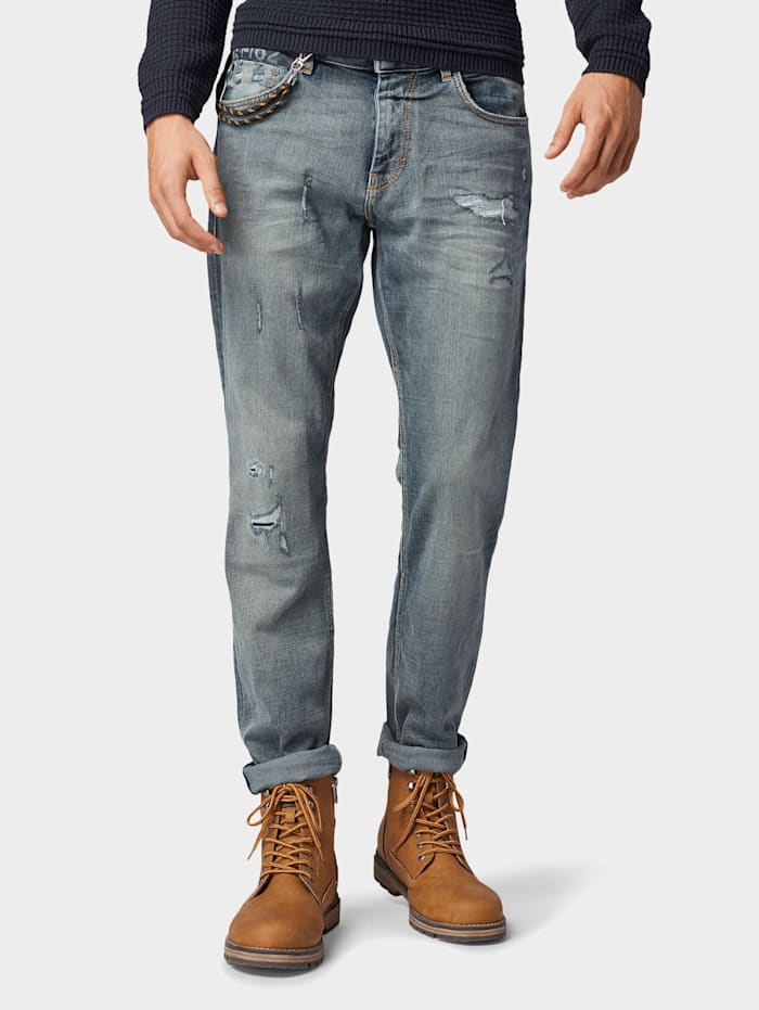 Tom Tailor Josh Regular Slim Jeans, Tinted Blue Denim