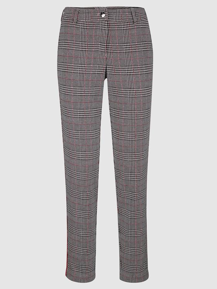 Pantalon en jersey Coupe Laura Slim avec motif Prince-de-Galles