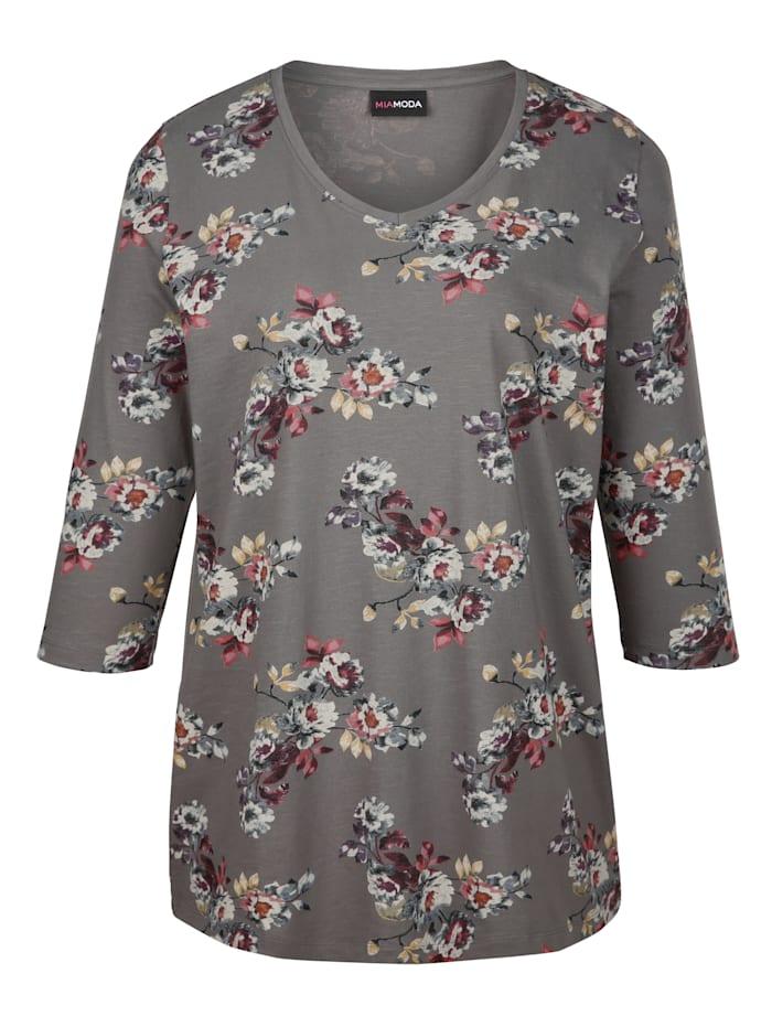 Shirt mit schönem Blumendruckmuster