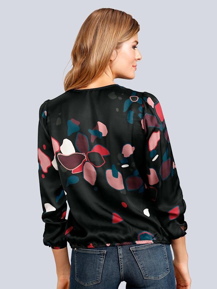 Bluse im floralen Muster