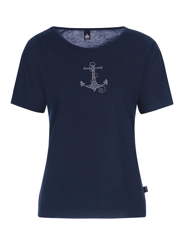 Damen T-Shirt mit modischem Strass Motiv