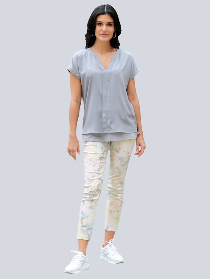 Pantalon à imprimé exclusif Alba Moda