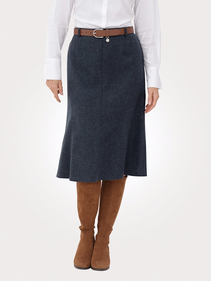 MONA Skirt in a textured finish, Smoke Blue