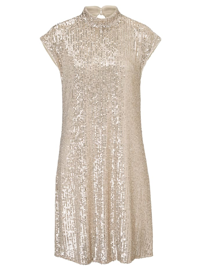 RIANI Paillettenkleid, Champagner