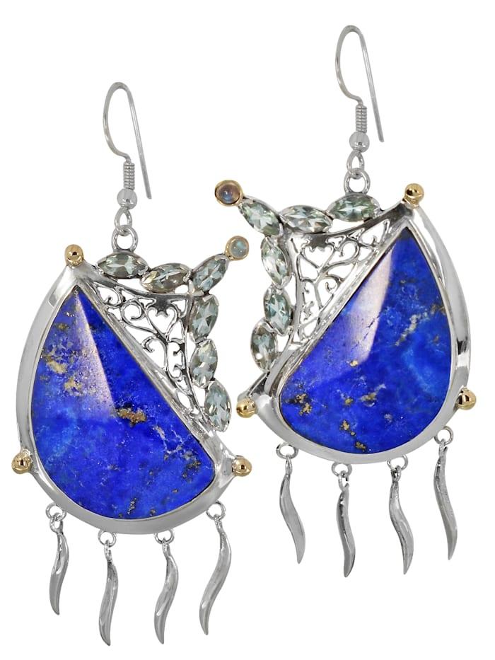 1001 Diamonds Damen Schmuck Edelstein Lapis Ohrhänger Anhänger 925 Silber blau, blau