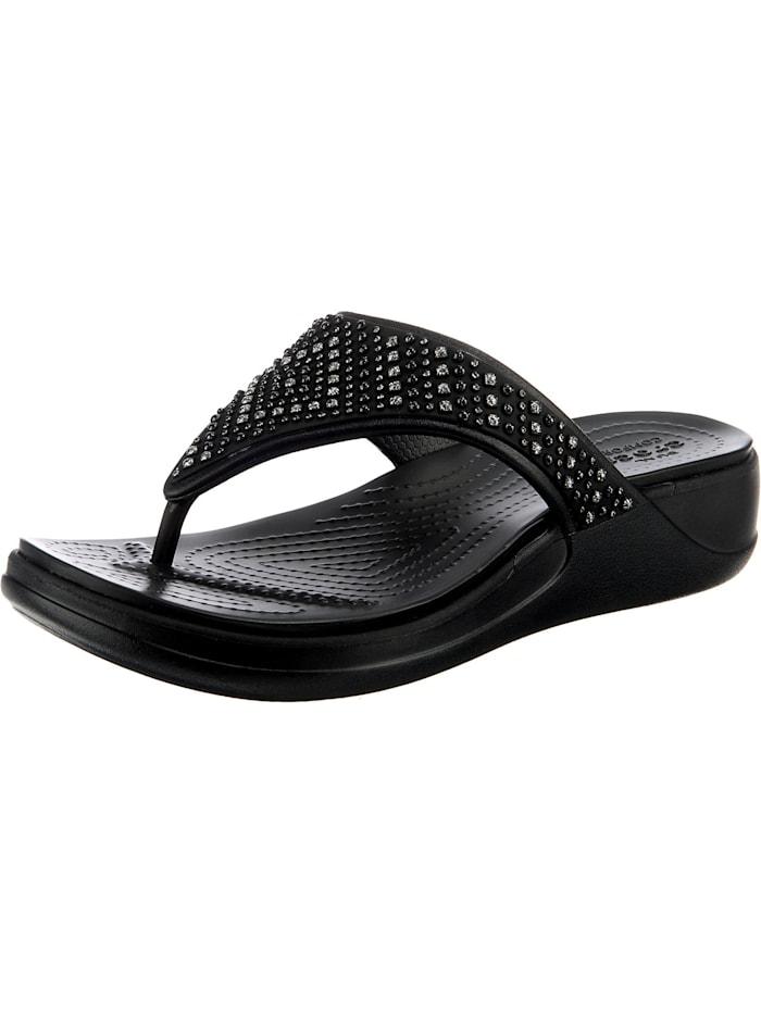 Crocs Crocs Monterey Shimmer Wgfpw Zehentrenner, schwarz