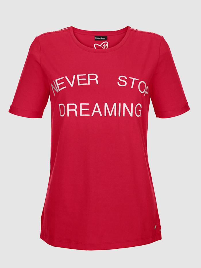 Tričko s kontrastním nápisem
